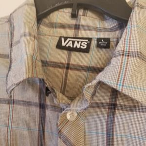 Van's brand 100% cotton shirt, button down